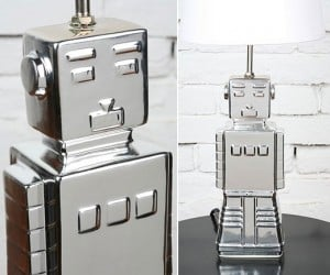 Robot Lamp Says: Light My Shiny Metal Ass