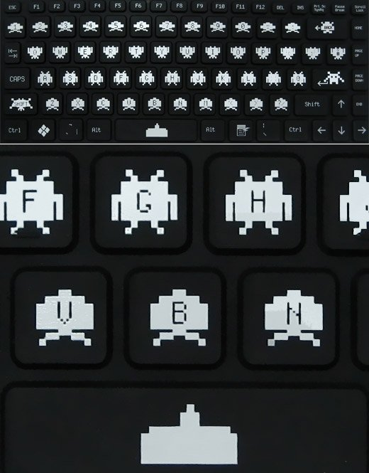 Space Invaders Bendiboard Keyboard