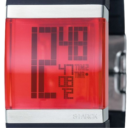 Philippe Starck Crystal Clear LCD Watch from Fossil