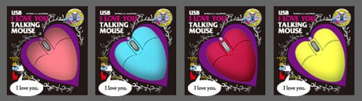 talking heart mouse