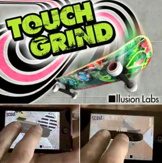 Touch Grind iPhone Multitouch Skateboard Game