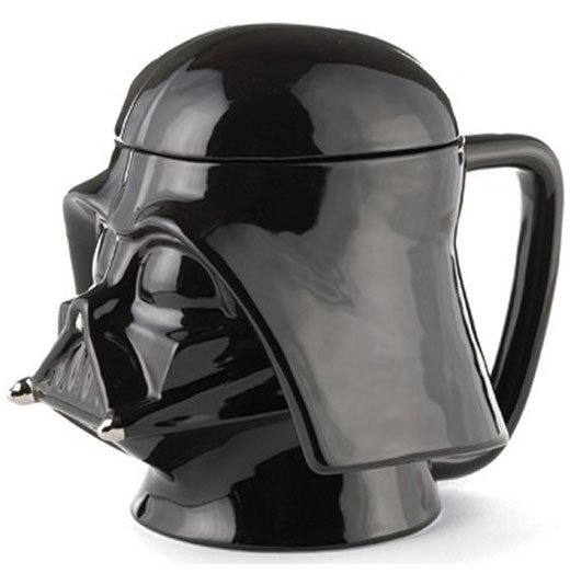 darth vader mug holds the dark side of your coffee