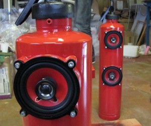 Fire Extinguisher Speakers Are Hot, Hot, Hot