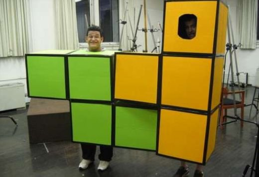 tetris costume_ cardboard boxes
