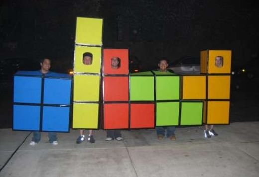 diy group tetris costume will earn you lots of candy technabob