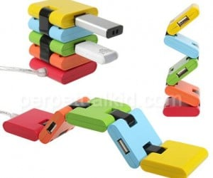 This Colorful USB Hub is Fun and Flexy