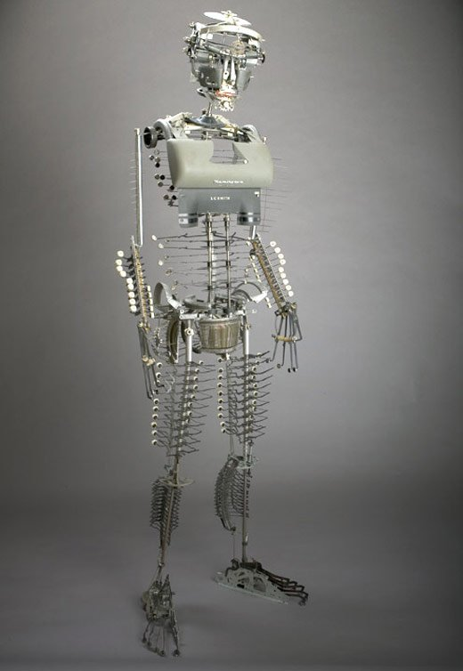 Jeremy Mayer Typewriter Robot Sculptures