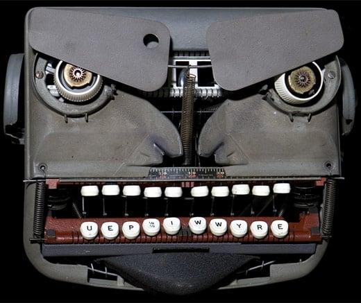 Jeremy Mayer Typewriter Robot Sculptures
