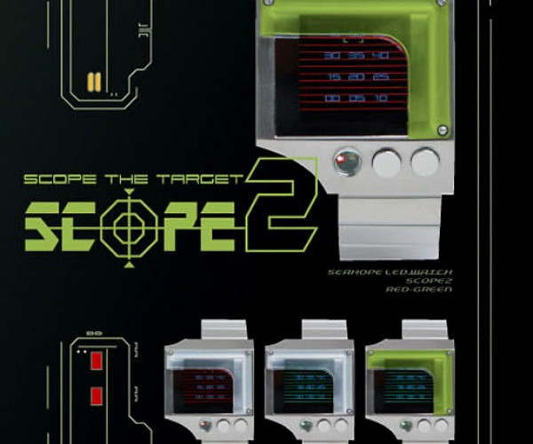 Scope 2 Rgb LED Watch Reminds Me of Vector Video Games