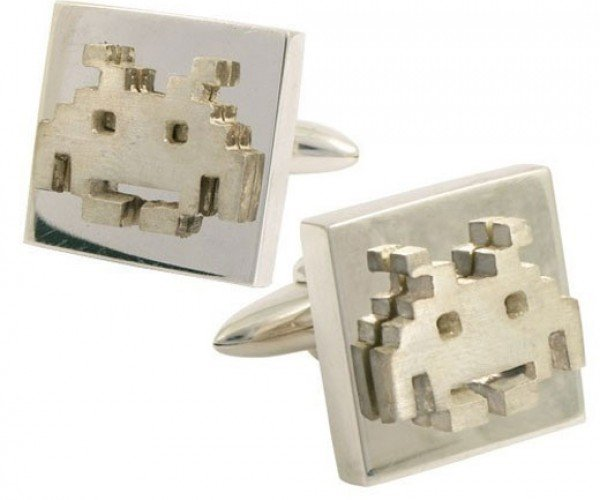 Silver Retro Gamer Cufflinks Are Definitely Semi-Formal