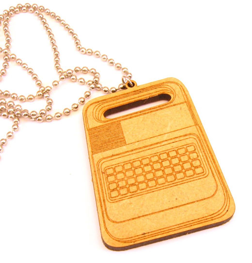 speak n spell necklace