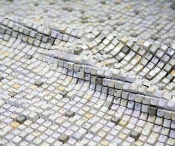 Textile: Interactive Fabric Made of Thousands of Computer Keys