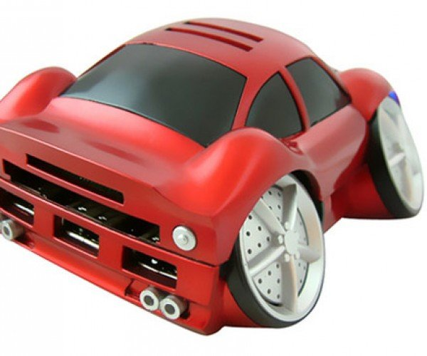 Race Car USB Memory Card Reader has Flat Tires