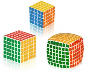 V-Cube 5x5x5, 6x6x6, 7x7x7: Like Rubik's Cubes on Crank
