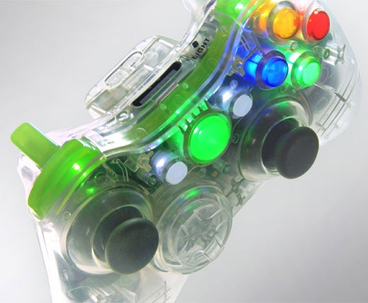 XCM Xbox 360 Crystal Clear Controller