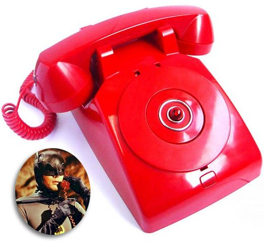 Red Batman Batphone