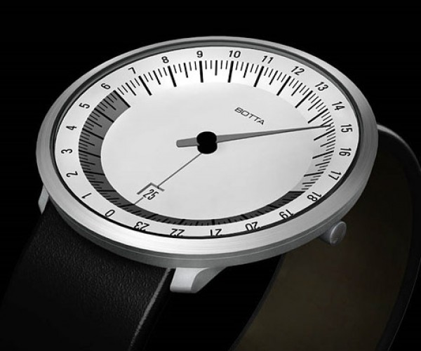 Botta Uno 24 Watches: 1 Rotation = 1 Day