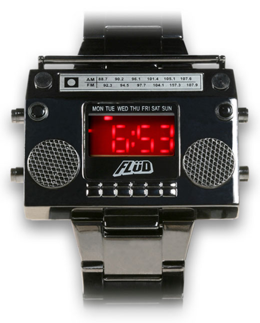 flud boombox watch grey
