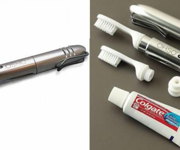 Pocket Toothbrush Also Carries Toothpaste