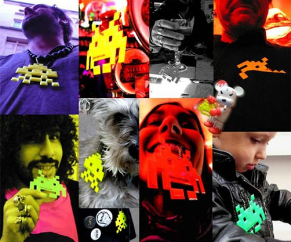 Space Invaders Dog Tags for People, Not Pets