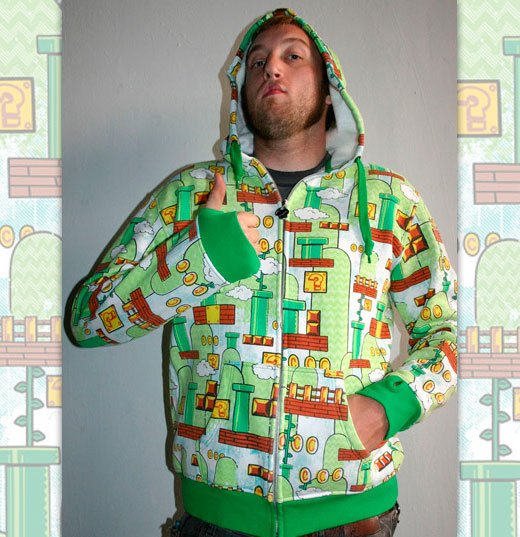super mario camouflage hoodie