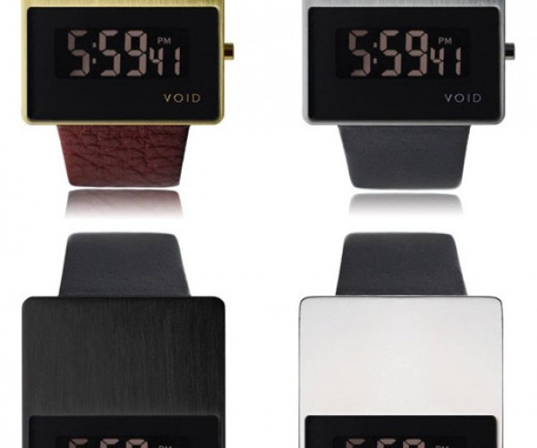 Void V.01 LCD Watches Tell Time With Modern Minimalism