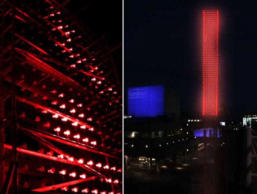 Mathmos Wind Light Installation by Jason Bruges