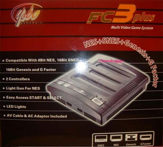 Yobo FC3 Plus NES SNES Genesis Clone