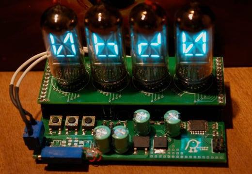 clock retro etsy koolatron circuit board fluorescent vacuum tube profanity generator