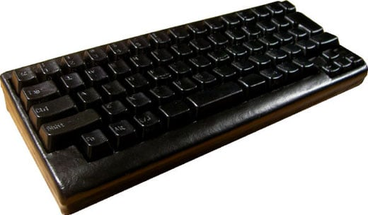black leather keyboard
