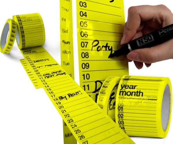 Use Calendar Tape to Make Dates Stick