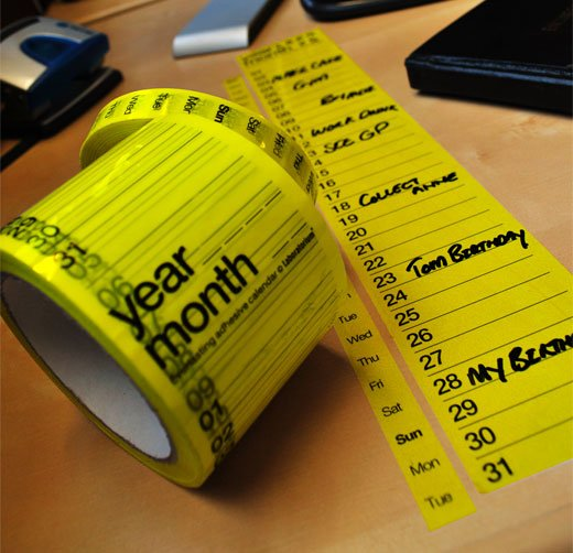 Sticky Tape Calendar from Suck UK