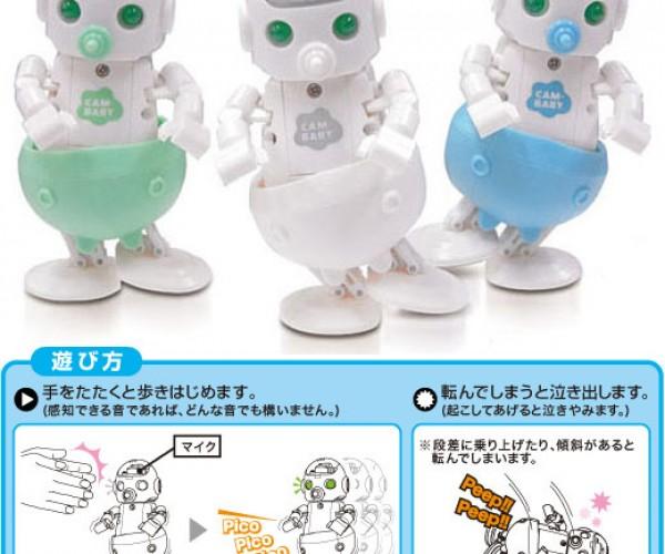 Cam-Baby Robot Cries When It Falls Down – Waaaaaaa!