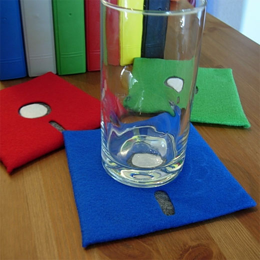 floppy disc coasters