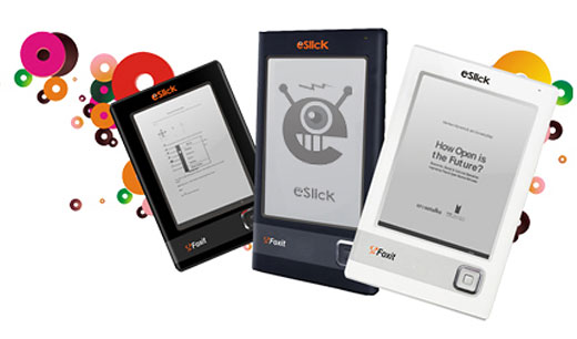 foxit eslick e-book e-ink reader kindle competitor