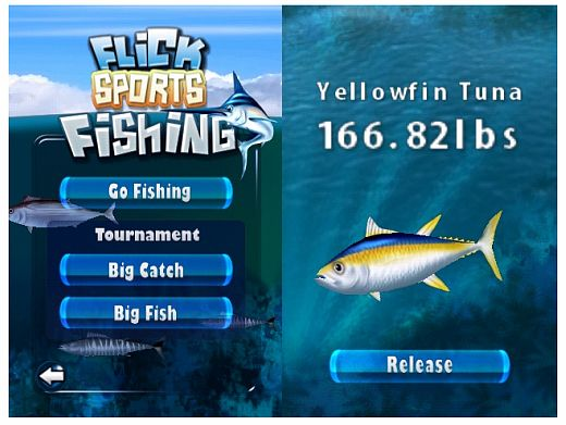 flick fishing 1 2 iphone game gets update technabob