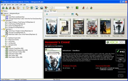 Game Collector Videogame Database