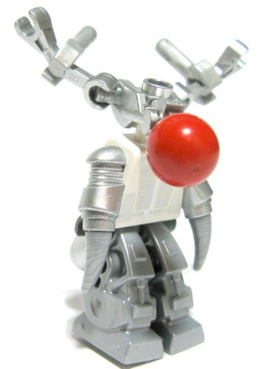 lego custom minifig reindeer robot reinbot