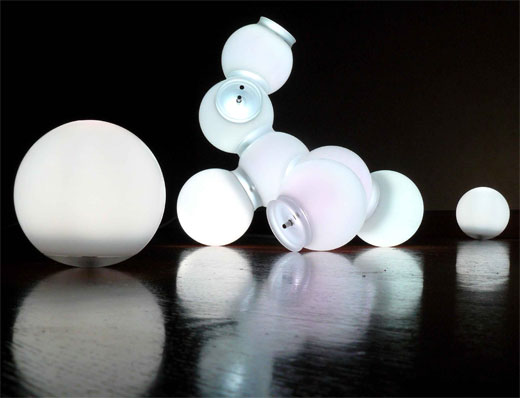 nomad light molecules maarten deceulaer led lamp orb