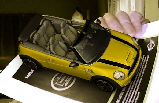 mini augmented reality ar advertisement automobile 3d