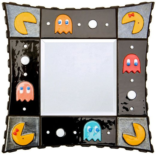 pac-man mirror ghosts glass etsy jamieburress
