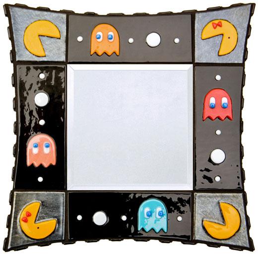 pac-man mirror ghosts glass etsy jamieburress