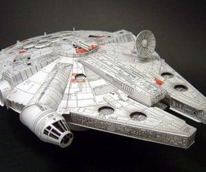 Papercraft Millennium Falcon Might Ignite at Lightspeed