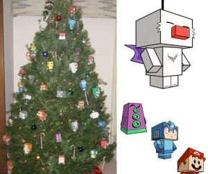 Papercraft Xmas Tree is a Colorful Fire Hazard