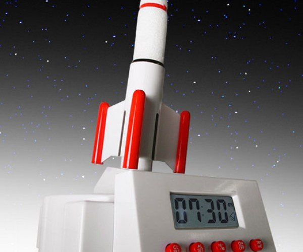 Rocket Launcher Alarm Clock Blasts Into Orbit to Wake You Up