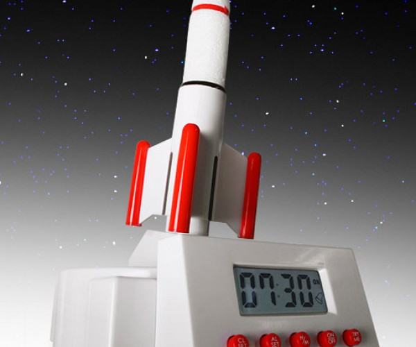 Rocket Launcher Alarm Clock Blasts Into Orbit to Wake You Up