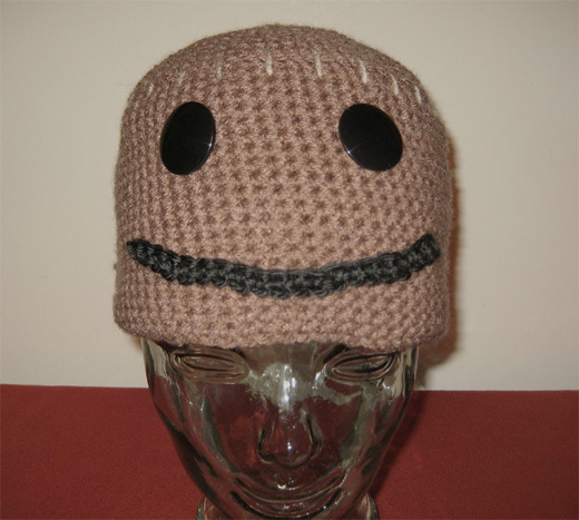 sackboy ps3 littlebigplanet crochet hat