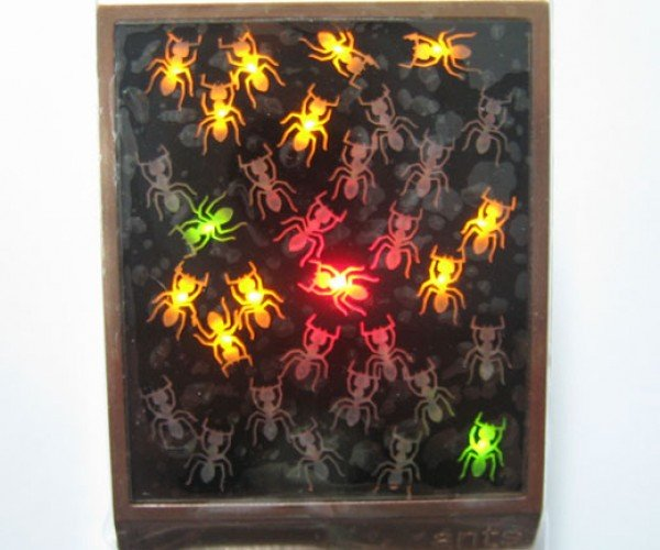 LED Watch Covered With Ants