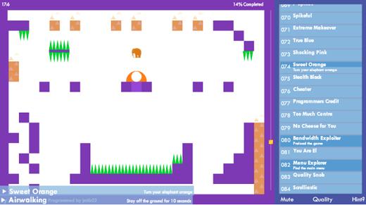achievement unlocked flash game score platformer