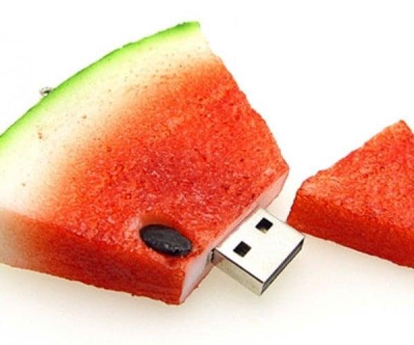 Watermelon Flash Drive Stores Warm Summer Memories